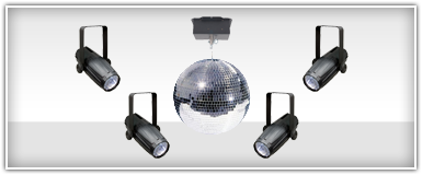 American DJ Mirror Ball Lighting Packages