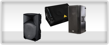 Closeouts Pro Audio Powered PA Speakers
