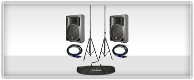 DJ Systems 8 Inch Speakers & Tripod Stands