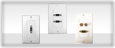 Home Theater Digital Video Wall Plates