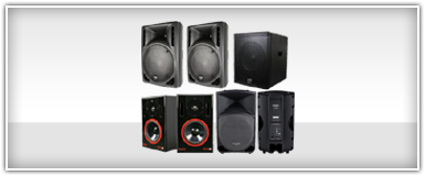 Pro Audio Amplified PA Speakers