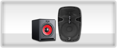 Pro Audio Powered PA Speakers