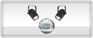 Mirror Ball Lighting Packages