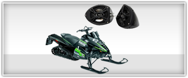 Waves & Wheels Arctic Cat Snowmobile Speakers